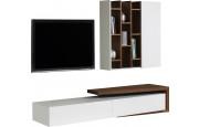2461 - Composition design meuble TV noyer étagères