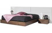 2577 - Grande tête de lit design laque pour lit 160 lumières