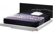 2612 - Têtes de lit design laque roir brillant pour lit 160x200 (x2)