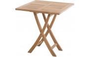 2810 - Petite table de jardin carrée teck