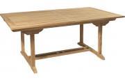 Table rectangulaire teck L180 à 240 1 allonge l100