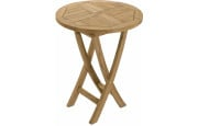 Table ronde teck pliante Ø60