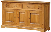 3529 - Buffet H110 chêne 3 portes 4 tiroirs