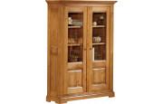 3549 - Buffet vaisselier chêne 2 portes vitrées