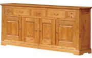3583 - Buffet H110 chêne 4 portes 5 tiroirs
