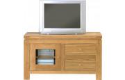 3948 - Meuble TV - Hifi chêne 2 tiroirs 1 porte vitrée