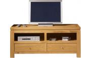 3953 - Meuble TV - Hifi chêne 2 tiroirs 2 niches