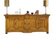 4033 - Buffet chêne 4 portes 3 tiroirs
