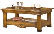4046 - Table basse rectangulaire chêne double plateau