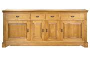4075 - Buffet 4 portes 4 tiroirs