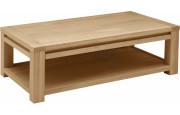 4685 - Table basse rectangulaire chêne double plateau