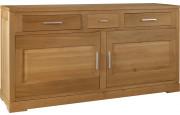 4877 - Buffet chêne 2 portes 3 tiroirs