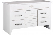 9081 - Commode blanche 3 tiroirs