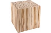 Bout de canapé carré branches de teck naturel