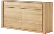 Buffet chêne naturel 2 portes 2 tiroirs