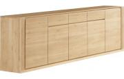 Buffet chêne naturel 5 portes 3 tiroirs