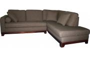 Canapé d'angle microfibre taupe