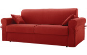 Canapé rapido 2 places convertible OCEANIA tissu rouge