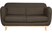 Canapé scandinave 2 places tissu taupe