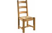 Chaise chêne assise paille 3 barreaux