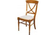 Chaise croisillon merisier massif