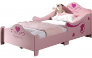 Lit enfant princesse rose 90x200