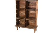 Meuble de rangement mahogagny 6 niches – NOVA
