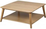 Table basse chêne avec tablette
