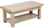 Table basse chêne naturel 1 tiroir