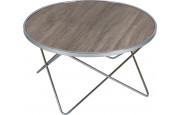 Table basse ronde acier chromé
