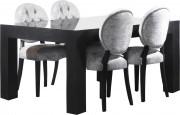 Table chêne massif rectangulaire plateau verrre L180