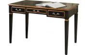 Table d'écriture châtaignier laque noir 3 tiroirs