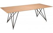 Table de séjour Chêne naturel pieds croisés métal - MAXUS