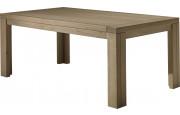 Table à manger rectangulaire chêne taupe 1 allonge L200