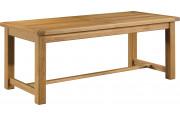 Table de ferme chêne massif ciré L220