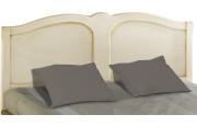 Tête de lit tilleul massif laque craie pour lit 140