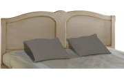 Tête de lit tilleul massif laqué lin pour lit 160