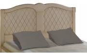 Tête de lit tilleul massif laque lin losange pour lit 140