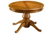 Table ronde chêne quadripode