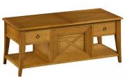 Table bar chêne avec plateau coulissant