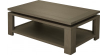 Table basse double plateau chêne gris titane