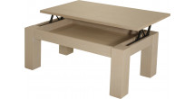10447 - Table basse élévatrice chêne blanc pierre