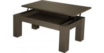 10451 - Table basse élévatrice chêne gris titane