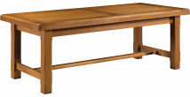10580 - Table de ferme 100% chêne massif ciré L220