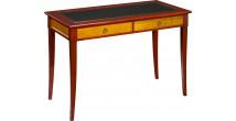 11344 - Table d'écriture merisier pieds sabre