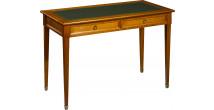11345 - Table d'écriture merisier pieds fuseau
