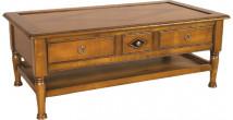 11369 - Table Basse 3 tiroirs double plateau