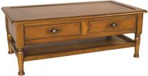 11372 - Table Basse 2 tiroirs double plateau