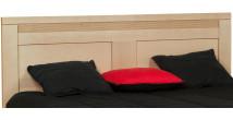 Tête de lit chêne massif naturel décor cannelé pour lit 160