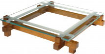 13021 - Table basse carrée plateau verre